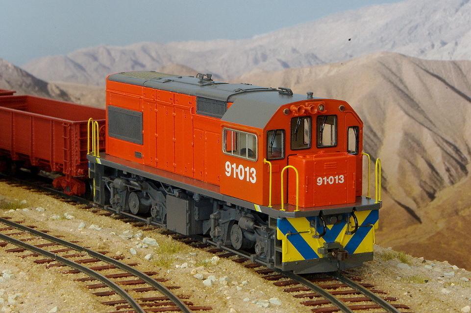 0n30 Bausatz Dieselelektrische Schmalspur-Lokomotive Class 91 der South African Railways