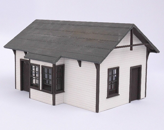 Echtholzbausatz Badwater Junction Depot 1:48