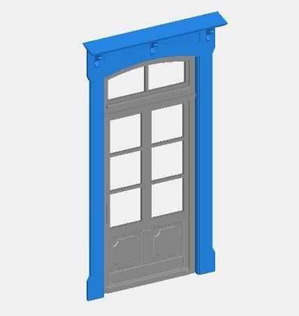 Fenster- und Türelemente württ. Standardbahnhof Spur 0