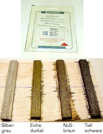Wasserlösliche Holzbeize Grau Wenz Modellbau